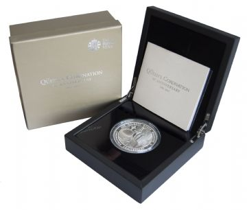 2013 Silver Proof £10 60th Coronation 5oz